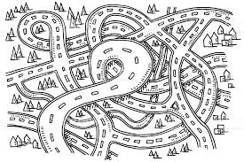 Roads View From Drawing Stock Vector Art & More of
