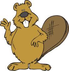 Beaver Waving Clip Art