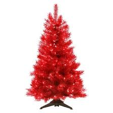 Target Artificial Christmas Trees Unlit by 4 U0027 Pre Lit Artificial Christmas Tree Translucent Ruby Red Clear