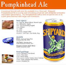 Shipyard Pumpkin Ale Recipe by Shipyard Brewing Company U0027s Seasonal Collection Available Now