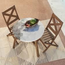 mosaic tiled bistro table isometric concrete west elm