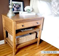 How To Build Wooden End Table by Diy Bedside Table With Drawer And Shelf Free Plans