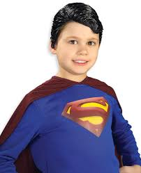 Halloween Express Austin Powers by Superman Vinyl Wig Child Kids Halloween Costume Clark Kent Latex