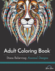 Title Adult Coloring Book Stress Relieving Animal Designs Author
