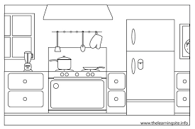 Coloring Page Kitchen Room Buildings And Architecture 4