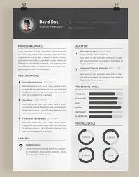 Free Resume Template Photoshop PSD