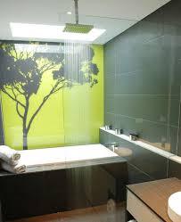 panneau décoratif mural en verre dans la salle de bains
