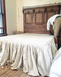 Bed Skirt Pins by Diy No Sew Drop Cloth Bed Skirt Bed Skirts Drop And Bedrooms