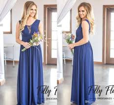 2018 new cheap chiffon boho bridesmaid dresses for summer a line