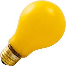standard 100w incandescent yellow bug light medium base