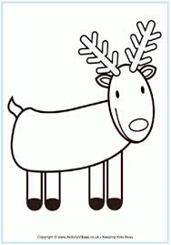 Reindeer Colouring Page 2
