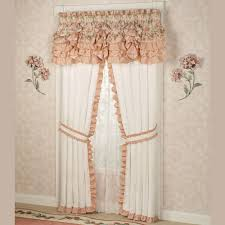 Lace Priscilla Curtains With Attached Valance by Melody Floral Ruffled Window Treatments