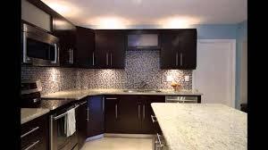 Backsplash Ideas For Dark Cabinets dark kitchen cabinets youtube