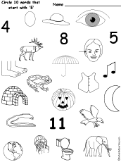 Letter E Alphabet Activities at EnchantedLearning