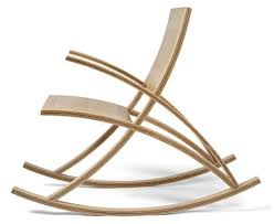 Seat Back Rocker On Modern Curved Wood Rocking Chair