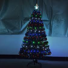 6ft Artificial Christmas Tree Tesco by Homcom 3ft 4ft 5ft Green Fibre Optic Artificial Christmas Tree