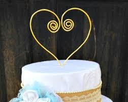 Heart Wire Cake Topper Wedding Toppers Custom