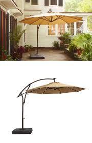 Solar Lighted Rectangular Patio Umbrella by 10 Foot Wide Rectangular Offset Patio Umbrella With Solar Lights
