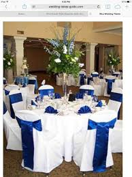 Turquoise Royal Blue Wedding Themes And Reception Decoration White Decorations Silver