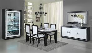 vitrine 1 porte prestige 302 laque bicolore noir blanc