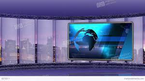 News TV Studio Set 90