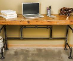 Reclaimed Pipe Desk See More Industrial Desks At