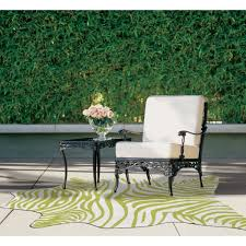 Shop Indoor Outdoor Green Zebra Print Shaped Area Rug 5 X 8