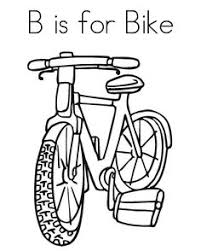 Bicycle Safety Coloring Pages Bike B Is For
