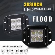 100 Led Work Lights For Trucks 2x 3inch CREE LED Bar Flood Flush Mount 12V 24V Truck