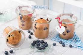 kuchen im glas blaubeermuffins im glas