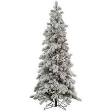 Artificial Christmas Trees Vickerman Flocked Kodiak 8 White Concept Of Unlit Tree