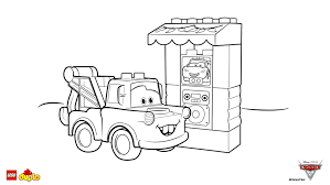 LEGOR DUPLOR Cars 3 Tow Mater Coloring Page