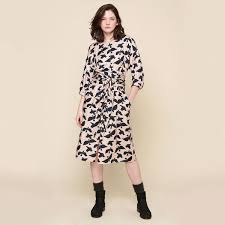 100 Rosee Acote Glasgow Printed Midi Dress