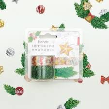 Japanese Bande Christmas Limited Foil Tree With Wreath And Paper Tape Sticker