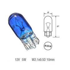 10 x 501 xenon style white 801 capless car side light bulb