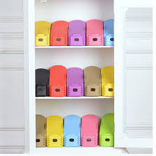 1 pc Display Rack Shoes Organizer Space Saving Plastic Storage