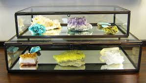 Rock Collection In Clarus Glass Display Boxes