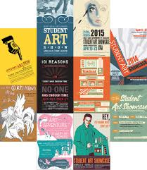 10 Student Art Show Posters