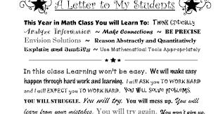 ☆ Rockstar Math Teacher ☆ A Letter To My Students