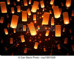 paper lantern lights Bright hope paper lantern vector