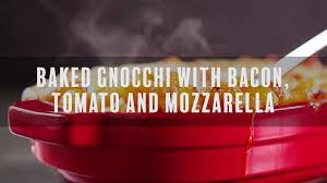 Pumpkin Gnocchi Recipe Uk by Baked Gnocchi With Bacon Tomato And Mozzarella Simply Delicious