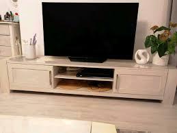 tv bank lowboard massiv holz weiß dänisches bettenlager