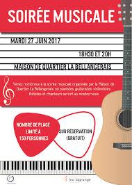 soirée musicale mardi 27 juin 2017 maison de quartier la