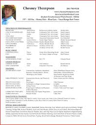 Beginner Actor Resume Sample Acting Example No Experience Inside Resumes Examples