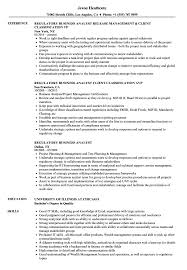 Regulatory Business Analyst Resume Samples
