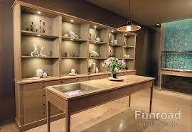 Design Fireproof MDF Jewellery Showroom Shop Display Wall Cabinet