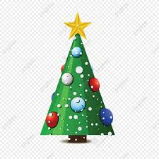 Christmas Tree Vector Silver Gold Green PNG And Vector With