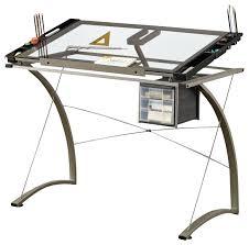 desk black metal and glass desk glass and black metal corner