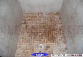 how to clean travertine tile shower floor image bathroom 2017