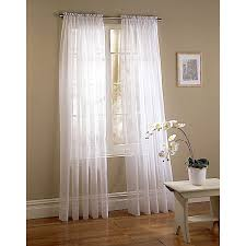 shop style selections voile 95 in white polyester rod pocket light